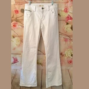 CABI WHITE women's bootcut flare stretch jeans 4